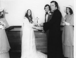 Marilyn Woods wedding day 1971